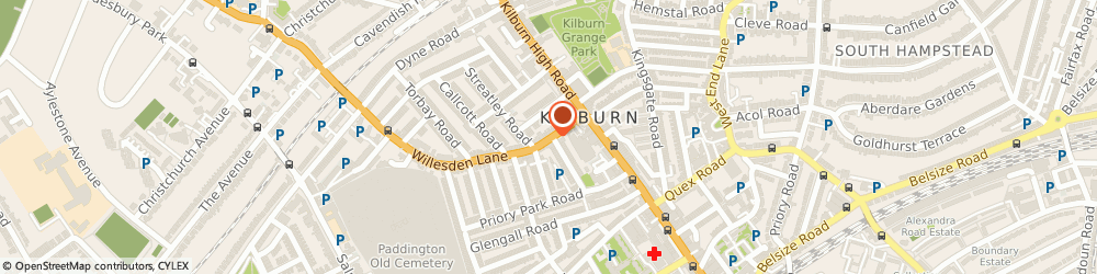 Route/map/directions to Kingsley Flowers, NW6 7ST London, 30A WILLESDEN LANE
