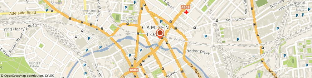 Route/map/directions to Robert G. Slade, NW1 9PG London, 14 Bonny St