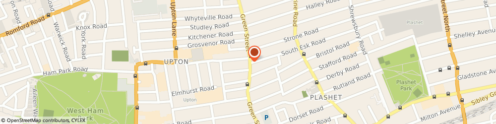 Route/map/directions to Bombay Looks, E7 8JT London, 162-164 Green Street