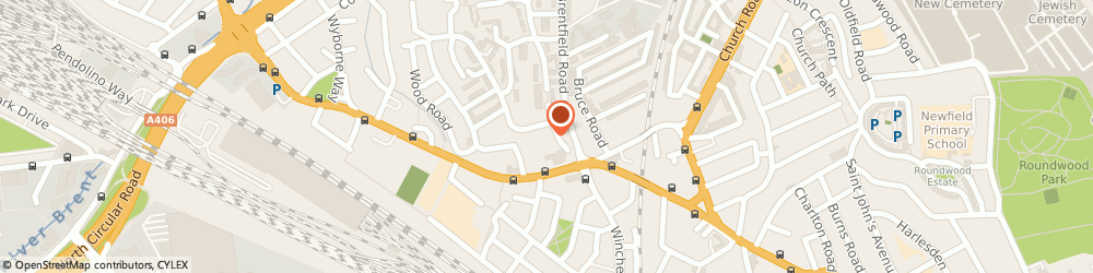 Route/map/directions to Brent Victim Support, NW10 8DY London, 1 MOORLAND GARDENS, HARLSDEN