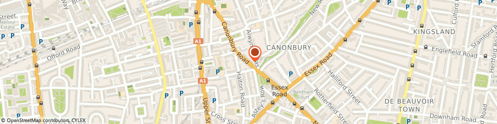 Route/map/directions to Coxfield Services Limited, N1 2DQ London, 54 CANONBURY ROAD