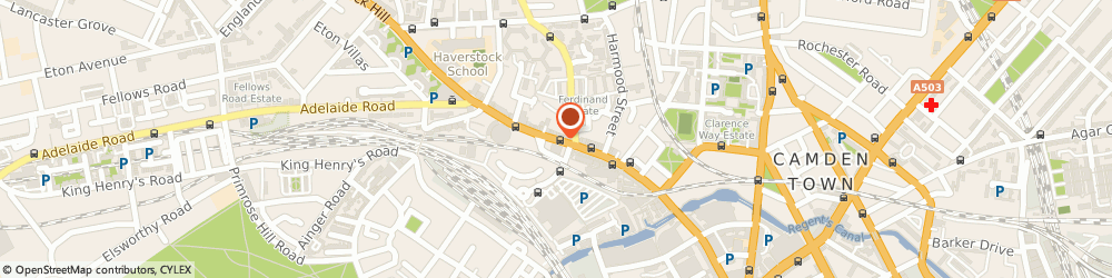 Route/map/directions to Ray Man Eastern Music, NW1 8AN London, 54 Chalk Farm Road