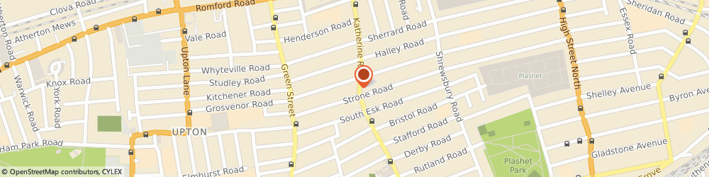 Route/map/directions to Metro Properties, E7 8LS London, A 449 Katherine Road
