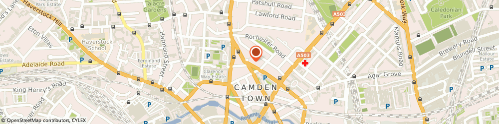 Route/map/directions to Dots, NW1 9NB London, 132 St. Pancras Way