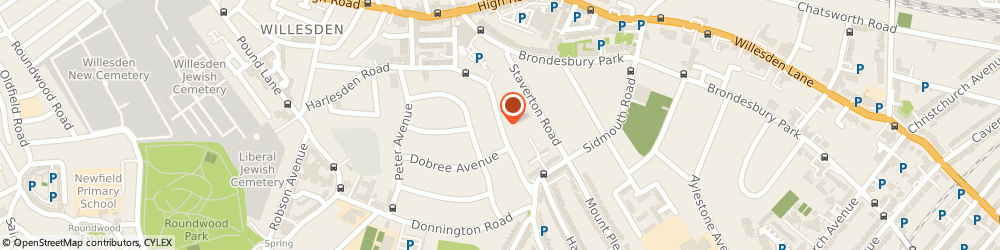 Route/map/directions to German Accurate Translations, NW10 2RN London, 81 CHAMBERS LANE