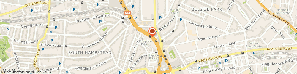 Route/map/directions to Ginseng Ltd, NW3 6JP London, 11 Harben Parade, Finchley Road, Swiss Cottage