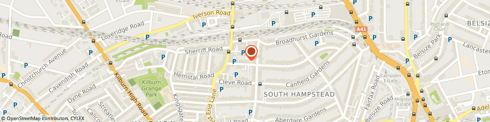 Route/map/directions to Creative Brazil, NW6 3RU London, 80b-80g, Compayne Gardens