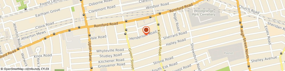 Route/map/directions to Ilyas Travel, E7 8EF London, 56 Henderson Rd