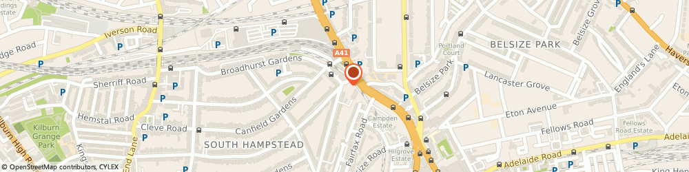Route/map/directions to Sew Head Office, NW6 3HX London, 15 GOLDHURST TERRACE