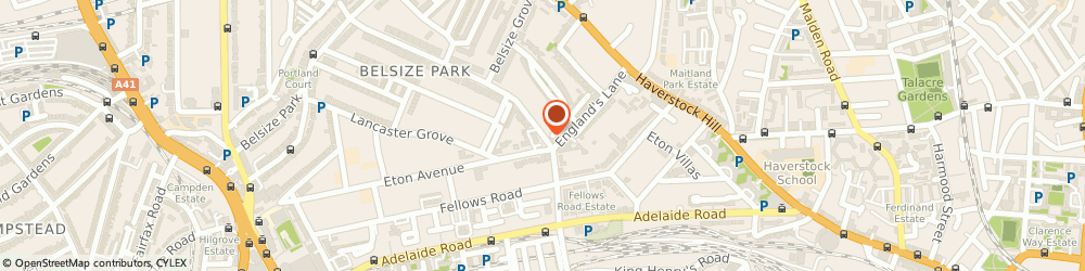 Route/map/directions to Soie-Meme Bridal & Eveningwear Ltd, NW3 4NG London, 76 Belsize Park Gardens