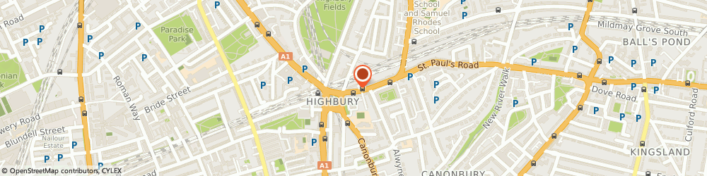 Route/map/directions to Network Cars and Couriers, N1 2LH London, 296 St Paul's Road
