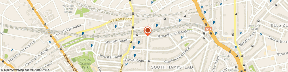 Route/map/directions to Wicked Flowers, NW6 4QG London, 3 BROADWELL PARADE, BROADHURST GDNS