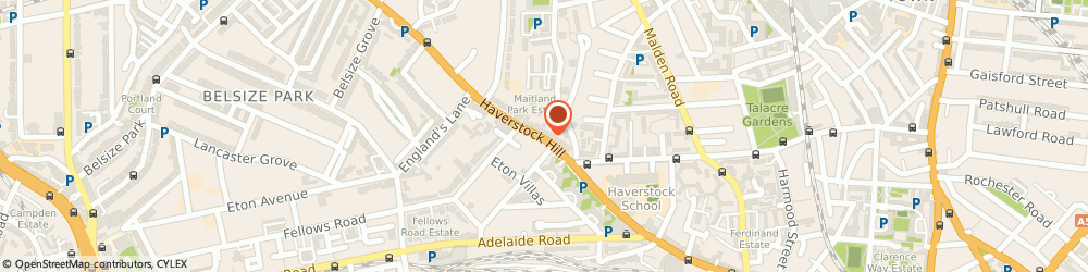Route/map/directions to Kitchens Kitchens, NW3 2BE London, 72 Haverstock Hill