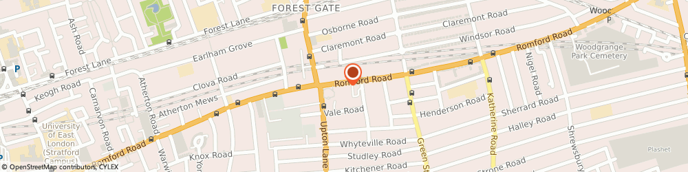 Route/map/directions to Collins Estate Agents, E7 8BD London, 316 Romford Rd, Forest Gate