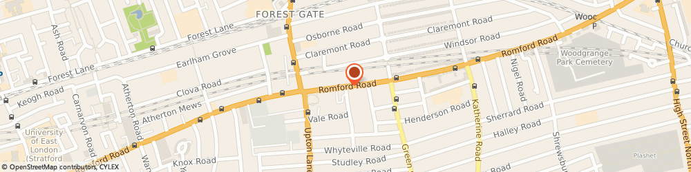 Route/map/directions to Silhouette UK, E7 8BS London, 334b Romford Road