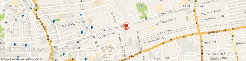 Route/map/directions to Osom Painting Services Limited, E15 4NT London, 131 KEOGH ROAD
