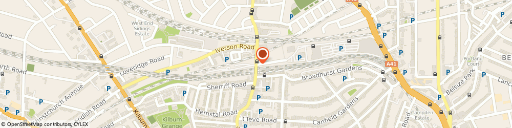 Route/map/directions to T.b.t Removal & Storage, NW6 2LJ London, 185, WEST END LANE