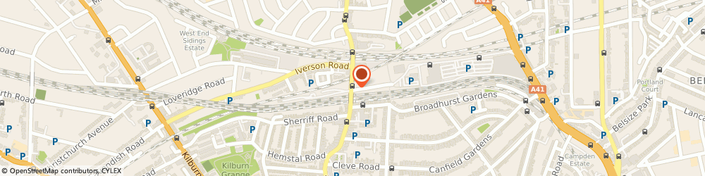 Route/map/directions to Budget Rent a Car, NW6 2LJ London, 191 West End Lane