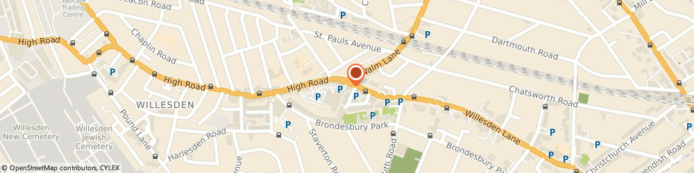 Route/map/directions to Tim Harvey piano restoration and repair, NW2 5HY London, 291-295 Willesden Lane