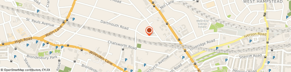 Route/map/directions to Plantcraft Design Ltd, NW2 4ET London, 23 Dartmouth Road