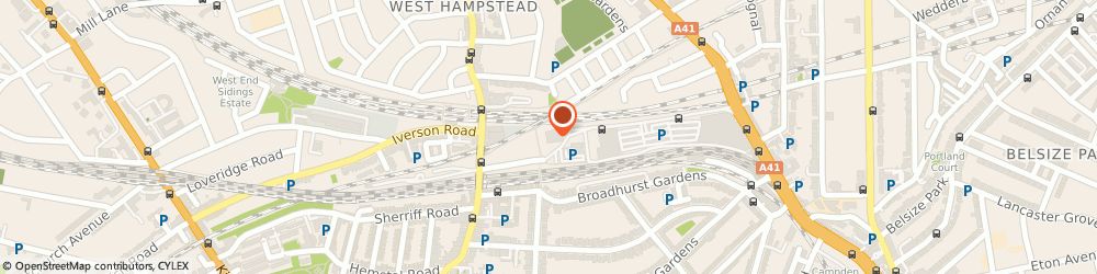 Route/map/directions to Motability Scheme at Finchley Road Audi, NW3 6LT London, 279 Finchley Road