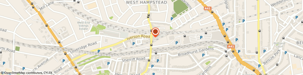 Route/map/directions to Hamways london, NW6 1SD London, 152 West End Ln