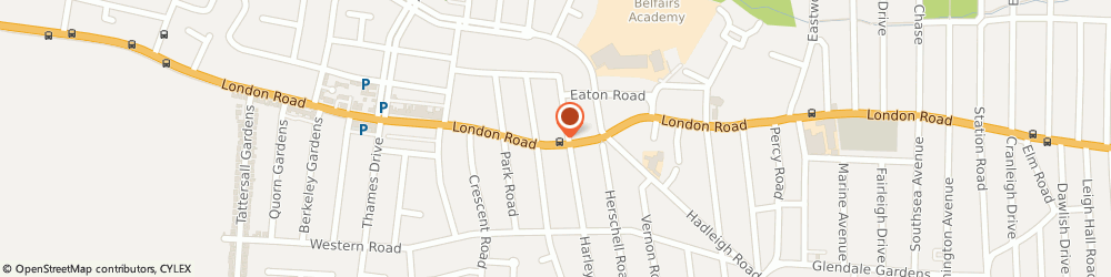 Route/map/directions to Jasmin Thai, SS9 2SQ Leigh-On-Sea, 1613 London Road