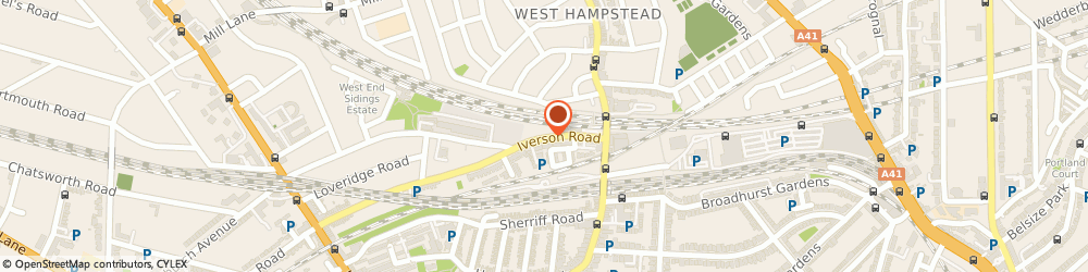 Route/map/directions to Triatom Ltd, NW6 2HL London, 224 IVERSON ROAD HAMPSTEAD WEST