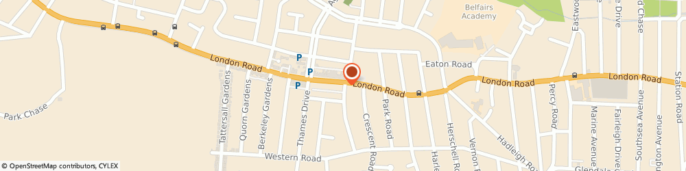 Route/map/directions to sandbankrestaurant.co.uk, SS9 2UR Leigh-On-Sea, 1470 London Rd