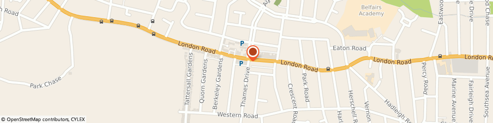 Route/map/directions to Bates Solicitors, SS9 2QQ Leigh-On-Sea, 1528 London Road