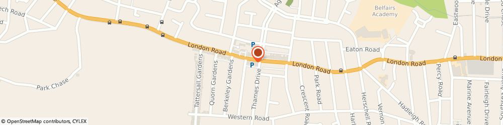 Route/map/directions to Fleet Street Barbers, SS9 2QG Leigh-On-Sea, 1534 London Road