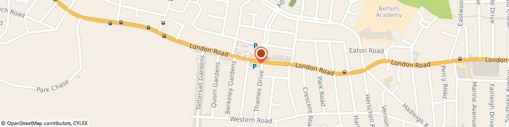 Route/map/directions to Cushion Supplier, SS9 2QG Leigh-On-Sea, 1538 London Rd