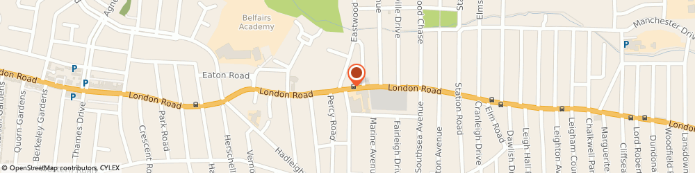 Route/map/directions to A1clearflowdrains, SS9 2SA Leigh-On-Sea, 1391 LONDON ROAD