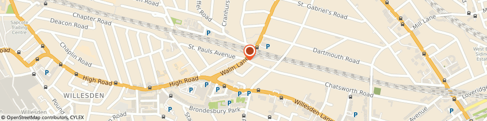 Route/map/directions to Frederick Reed Ltd, NW2 4RA London, 78 Walm Ln