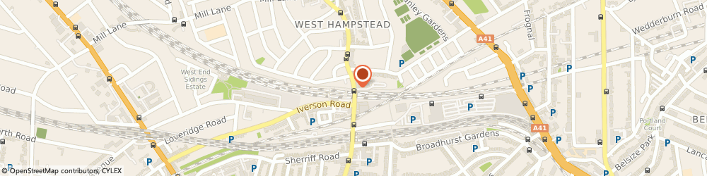 Route/map/directions to Travis Perkins, NW6 1UF London, 156 West End Lane