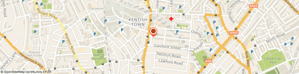 Route/map/directions to Locksmith Kentish Town, NW5 2JS London, 220-224, Kentish Town Road