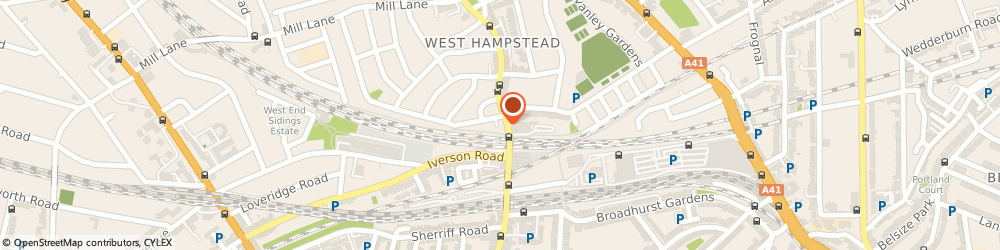 Route/map/directions to Hyjan Investments Holdings Ltd, NW6 1XJ London, 215 West End Lane