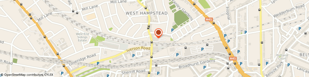 Route/map/directions to Travis Perkins, NW6 1UF London, 156 West End Lane, Hampstead