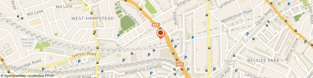 Route/map/directions to Taxassist Accountants, NW3 6NG London, 1 ROSEMONT RD