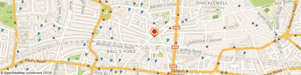 Route/map/directions to UPS Solutions Logistics, N1 4NJ London, 68-70 King Henrys Walk