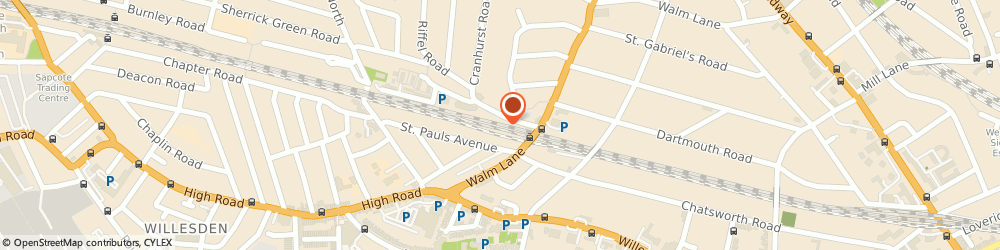 Route/map/directions to Daisychain, NW2 4QT London, Unit 6, Willesden Green Station, Walm Lane