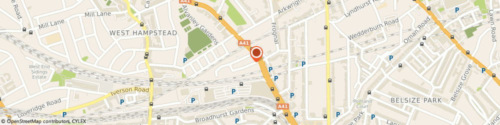 Route/map/directions to Abbey Road Cars, NW3 6NG London, 5 Rosemont Rd