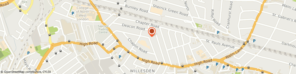 Route/map/directions to Alpha 211 Ltd, NW2 5PJ London, 100 Villiers Road