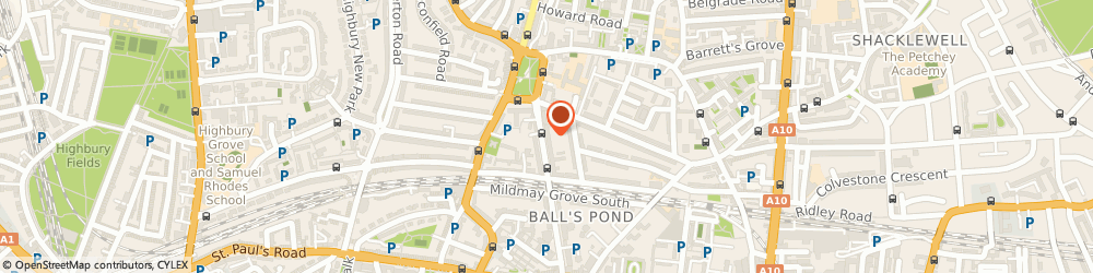 Route/map/directions to A.w Kiddle & Sons, N1 4PR London, 44C, MILDMAY PARK