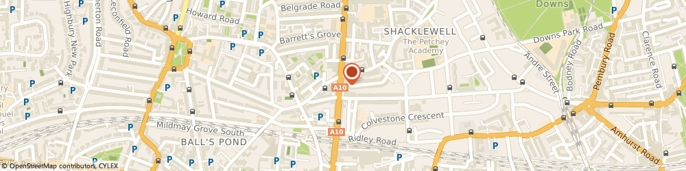 Route/map/directions to Circle Sports, E8 2NS London, 136 Kingsland High Street