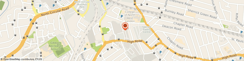 Route/map/directions to North West London Plant & Tool Hire Ltd, NW10 2XA London, UNIT 1-2/CYGNUS BUSINESS CENTRE, DALMEYER ROAD