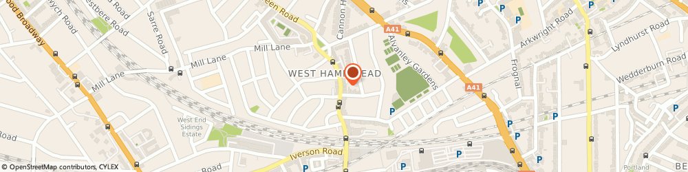 Route/map/directions to Scope - West Hampstead charity shop, NW6 1UU London, 214 West End Lane