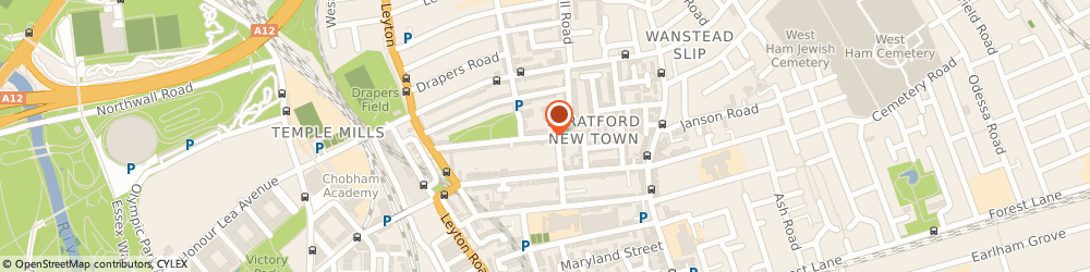 Route/map/directions to Guitar Tuition East London, E15 1TT London, 90 Chandos Rd