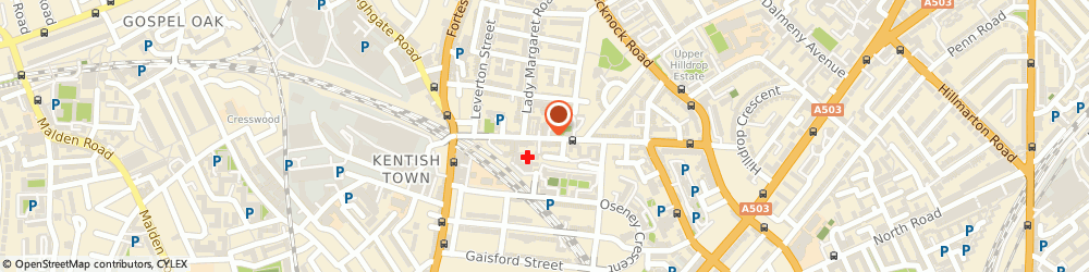 Route/map/directions to Kentish Town Locksmiths, NW5 2QH London, 59-61 LEIGHTON ROAD