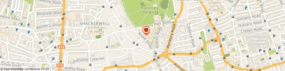 Route/map/directions to Showhurst Ltd, E8 2AA London, 12 ANDRE STREET